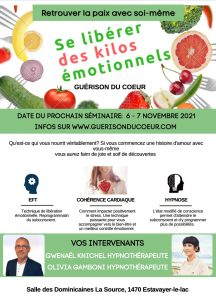 Read more about the article Se libérer des kilos émotionnels – Séminaire – 6/7 novembre 2021 à Estavayer-le-Lac (Suisse)