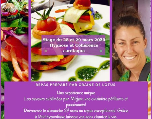 stage repas hypnose cohérence cardiaque knichel